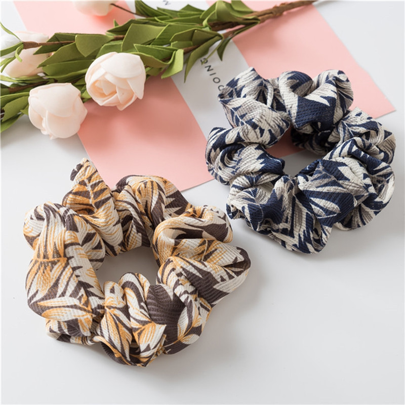 IMIXLOT Simple Fabric Leaves Design Headband Soft Hair Band For Women Girls Hair Elastic Hair Bands bijoux de tete