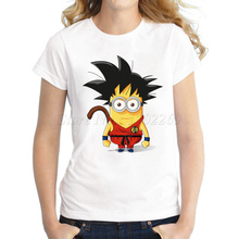 Dragon Ball Z Goku Minions Design women's Casual T-shirt