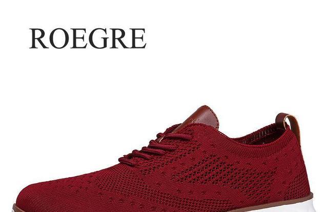 Повседневная трикотажная Мужская обувь из сетчатого материала Однотонная легкая мягкая обувь для мужчин на шнуровке дышащая мужская обувь... 3