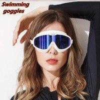 Large Frame Diving Swim Goggles Waterproof Silicone Anti fog HD Swimming Pool Water Glasses Men Women Adult Swiming Mask Mirror