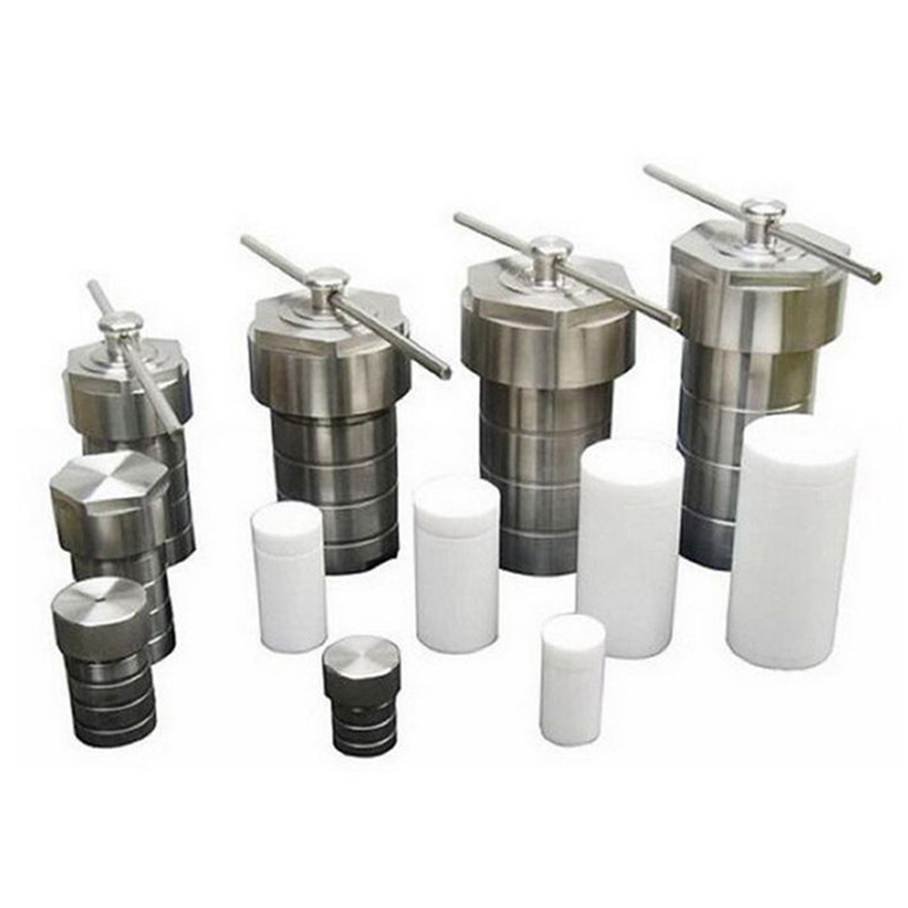 Acier inoxydable Hydrothermale Autoclave Réacteur + Teflon Chambre Synthèse 10 ml, 20 ml, 25 ml, 100 ml, 200 ml, 300 ml