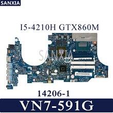 KEFU 14206-1 Laptop motherboard for Acer Aspire V Nitro VN7-591G original mainboard I5-4210H GTX860M