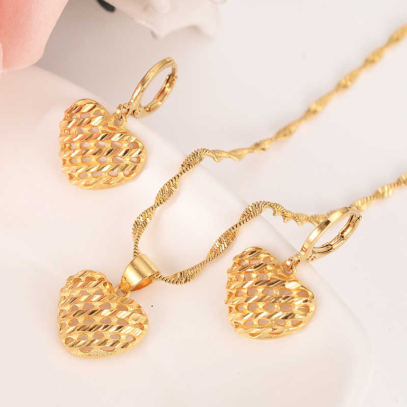 d039f02d30 Detail Feedback Questions about Gold dubai African heart jewelry Set ...