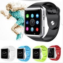 Viscoso 2018 Melhor Relógio De Pulso Bluetooth Relógio Inteligente Pedômetro Esporte Com Câmera SIM Smartwatch Para Android Smartphones Estoque Rússia