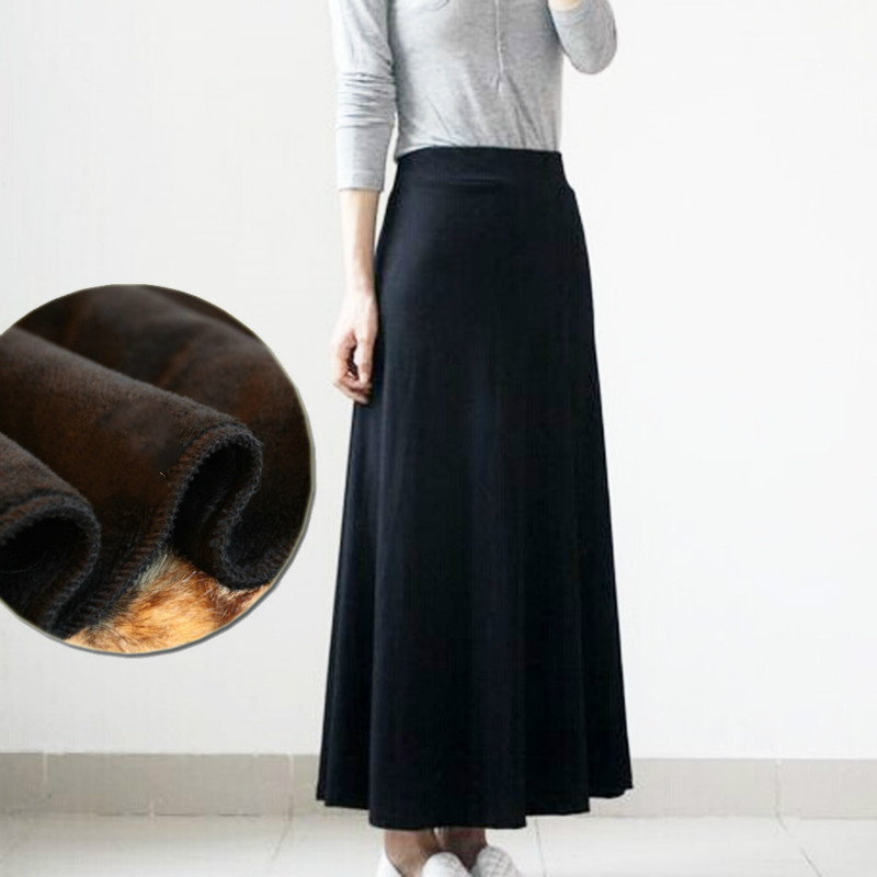 New models Autumn and winter plus velvet thick skirt Slim package hip was thin fish tail skirt thick AL589