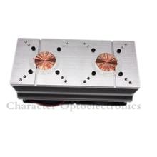 2PCS 100W 200W High Power LED Heatsink cooling with fans 57mm /44mm / Lens +Reflector Bracket