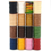 Konu Dikiş Deri 1 takım Için Mix 16 Renkler Mumlu Polyester Dikiş Kordon Craft Bilezik