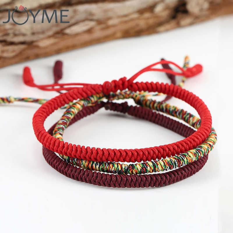 Chinese Lucky Red String Bracelet Men Women Tibetan Buddhist Buddha Prayer Handmade Yoga Rope