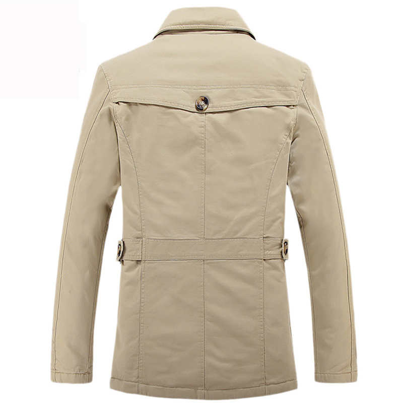 New Thick Men Jacket Coat Casual Slim Fit Cotton Trench Coat Jackets Men S Fashion Overcoat Jaqueta Masculina Veste Homme
