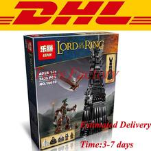 2016 New LEPIN 16010 2430Pcs Lord of the Rings The Tower of Orthanc Model Building Kits Minifigure Blocks Bricks Toys Gift 10237