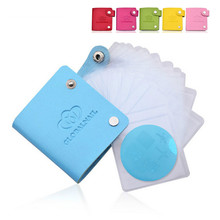 New 24slots Round Leather Nail Art Plate Template Case/Bag/Folder Stamp Stamping Album Storage for Dia 5.5cm Disc