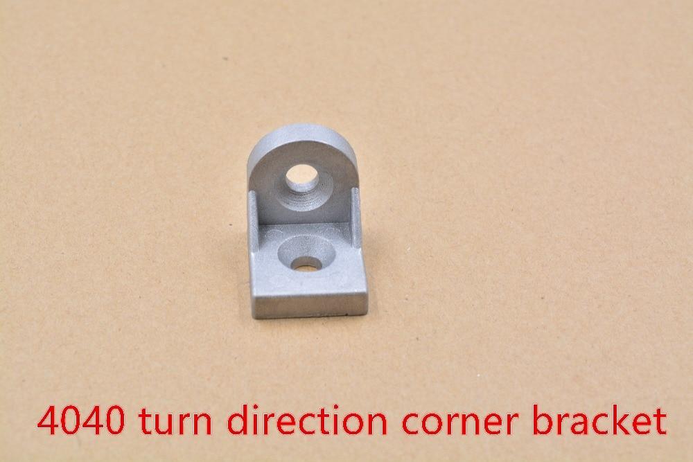 4040 Angle Bracket Corner Fitting  Aluminum  Fastener Connect Two Pcs   Profile 1pcs