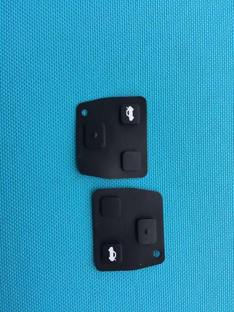 2 sztuk/partia silikonowy pilot zdalnego samochodu osłona na klucze 2/3 przyciski dla Toyota Avensis Yaris Carina Corolla dla Lexus RVA4 etui na kluczyk/pilota do samochodu pokrywa Shell