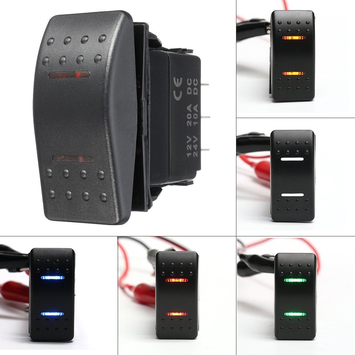 Aliexpress.com : Buy 12v 24v LED Marine Switches 7 Pins DPDT ON OFF ...