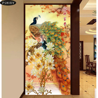 5D DIY Diamond Painting Mosaic Round Crystal Flower Peacock Animal Cross Stitch Rhinestone Decor Diamond Embroidery
