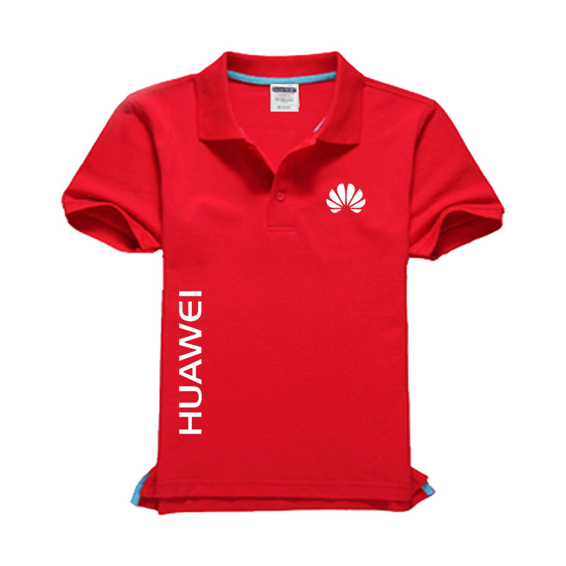 New HUAWEI logo Men's   Polo   Shirt High Quality Men Cotton Short Sleeve shirt Brands jerseys