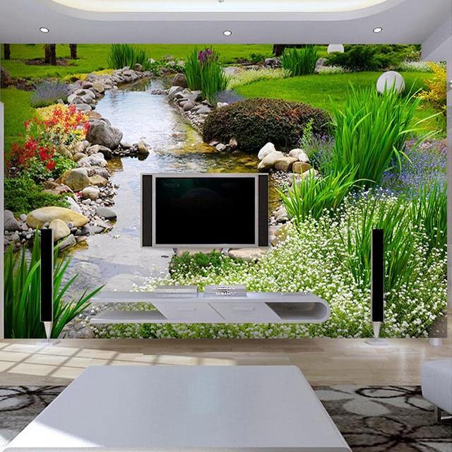Pastoralen Stil Natürliche Landschaft Wandbild Nach 3D Foto Tapete TV  Hintergrund Wandbild Malerei Wohnzimmer Tapeten