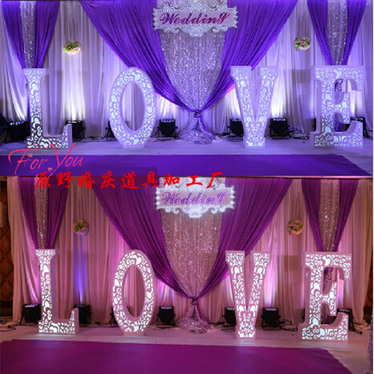 romantic new design wedding backdrop stage curtain 3m 6m