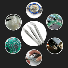 Electronics Industrial Stainless Steel Ceramic Tweezers Heat Resistant Conductive Anti-Static Curved Straight Tweezers Hand Tool