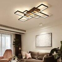 Современный минимасветодио дный листичный светодиодный кофейный цвет потолочный светильник для гостиной спальни кухни алюминиевый повер
