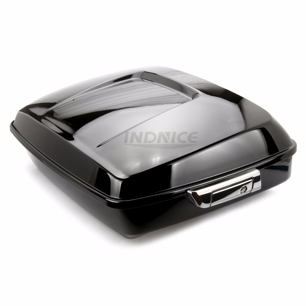 Vivid Black Chopped Tour Pak street glide FLHX Trunk pack For Harley Touring Electra glide 2014