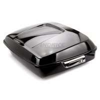 Vivid Black Chopped Tour Pak street glide FLHX Trunk pack For Harley Touring Electra glide 2014 2018