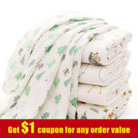 [Simfamily] 1Pc100% algodón flamenco dibujo de frutas mantas de muselina para Bebé Ropa de cama toalla infantil de Envolver para faja para recién nacidos Manta