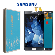 Recambio de pantalla LCD ORIGINAL de 5,7 pulgadas para SAMSUNG Galaxy Note 4, N910, N910C, N910A, N910F, N910H, digitalizador de pantalla táctil