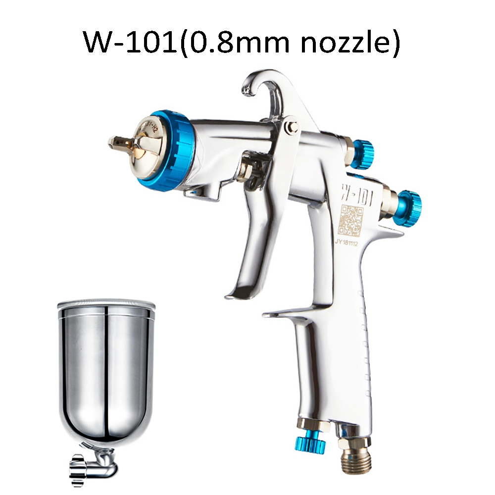 0 8 1 8mm Nozzle 400cc Car Painting Gun With Stainless Steel Pot Cup W 101 HVLP Manual Painting Gun High Quality Air Spray Gun