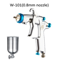 New Style 400cc Cup W 101 Manual Airbrush Paint Spray Gun SPRAY GUN Air Spray Gun 0.8/1.0/1.3/1.5/1.8mm HVLP Painting Gun