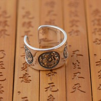 Sterling Silver Ring Four Animal Ring S999 Thousands Of Fine Silver Antique Style Opening Gift Wholesale