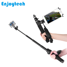 Aluminum Alloy Handheld Selfie Stick with Holder for Iphone Xiaomi Samsung Huawei Phones Monopod with Ball Head for Gopro Camera 3 in 1 mini selfie stick with tripod ball head for gopro bluetooth remote extendable monopod for iphone xiaomi samsung phones