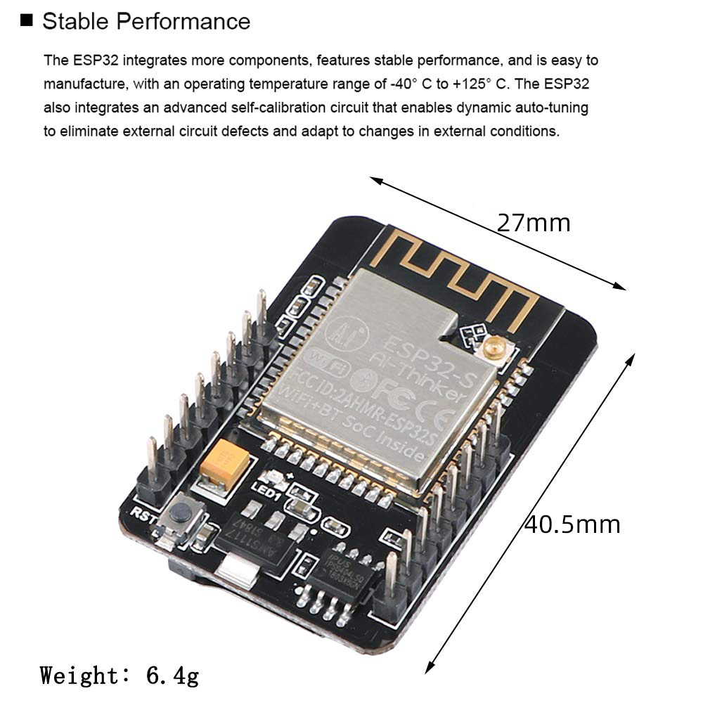 ESP32 CAM ESP32 S WIFI Bluetooth Development Board W OV2640 Camera Module Highly Integrated For ESP32 WROVER And PSRAM Flash in Mobile Phone Camera Modules from Cellphones Telecommunications