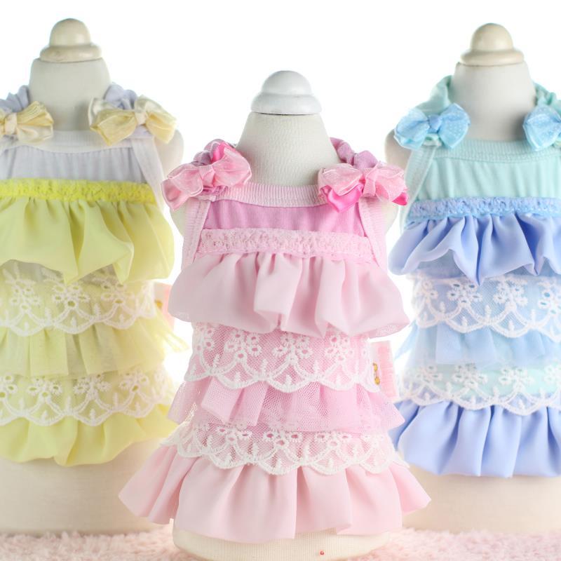 Dulce princesa Vestidos para perros de encaje Ropa para niñas Ropa - Productos animales