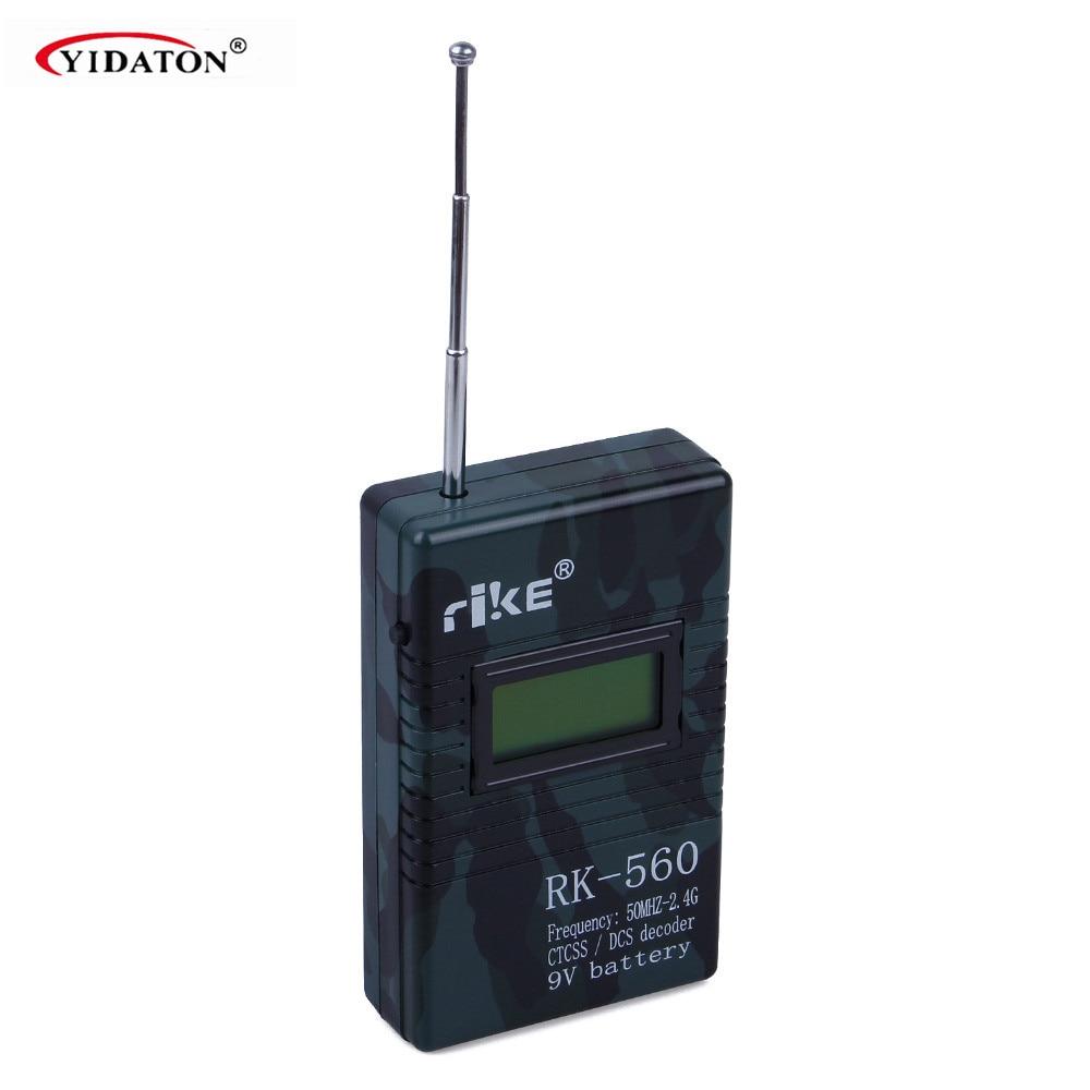 Compteur de fréquence portatif précis RK560 50 MHz-2.4 GHz DCS CTCSS compteur de fréquence de test Radio