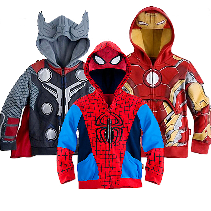 2019 Boys Hoodies Sweatshirts Avengers Marvel Superhero Iron Man Thor Hulk Captain America Spiderman Sweatshirt Boys Kids Coats2019 Boys Hoodies Sweatshirts Avengers Marvel Superhero Iron Man Thor Hulk Captain America Spiderman Sweatshirt Boys Kids Coats