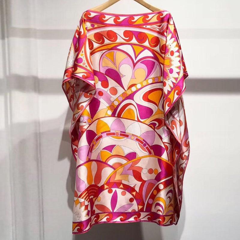 Soie Printemps Robe Imprimé souris Manches Femmes Chauve Élégantes 2019 Vêtements En Femelle Robes S4EFqzwx
