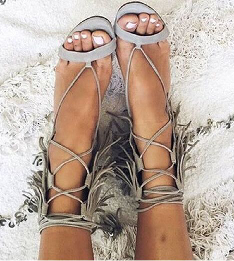 Good-looking Women Sandals Tassel Decorated Thin High Heels Female Shoes Crosspy Strappy Peep Toe Mujer Sandalias Women Shoes new good looking bright color women ankle boots lace up tassel decorated high heels peep toe sandal boots summer women shoes