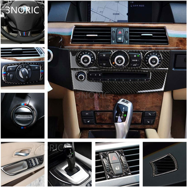 Interior Console Cd Panel Decorative Cover Trim Carbon