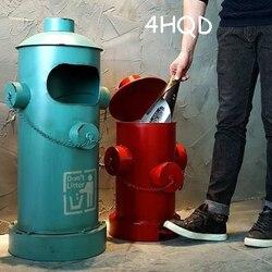 Amerykański przemysł wiatr Retro kosz na śmieci LOFT stóp Hydrant papieru kreatywny dom Bar ozdoby ozdoby w Kosze na śmieci od Dom i ogród na