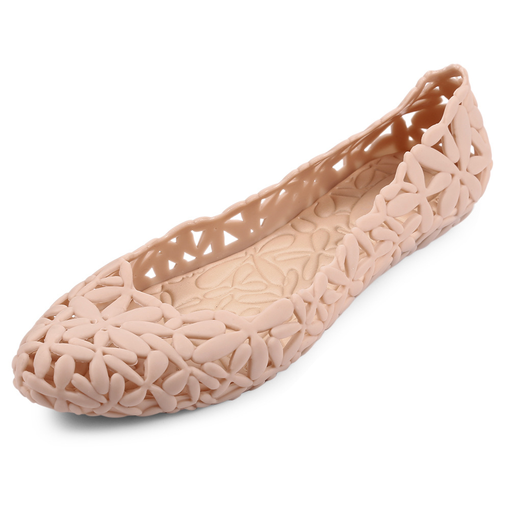Summer Women's Sandals Flower hollow jelly shoes Lady Hollow Fashion Rubber Flower shoes women Sweet garden shoes beach shoes