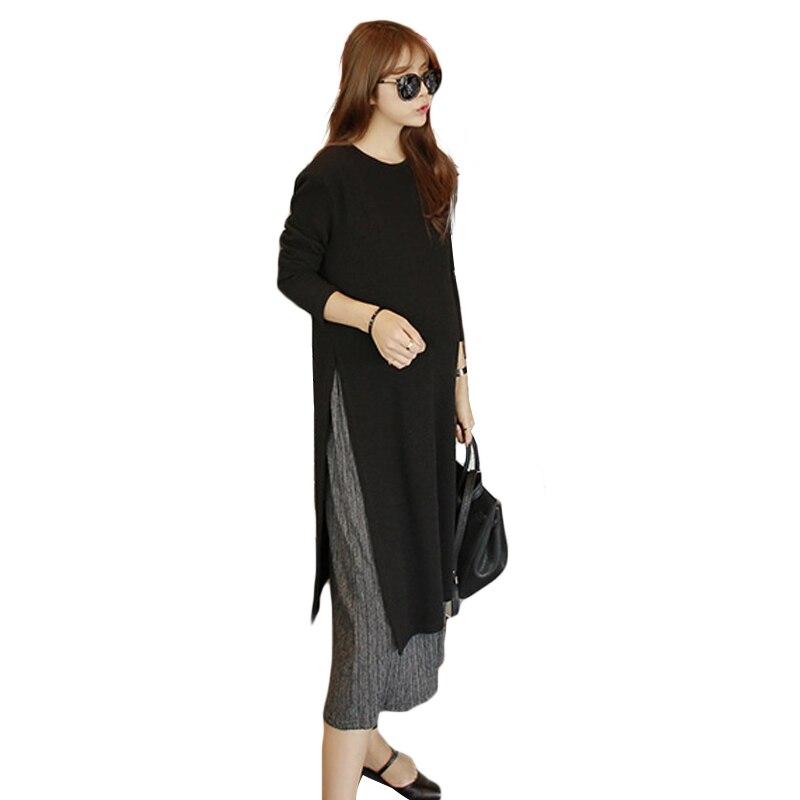 Fashion Maternity Nursing Dress For photo Street shoot Black Elastic Tread Cotton Max Breastfeeding Dresses For Pregnant Women