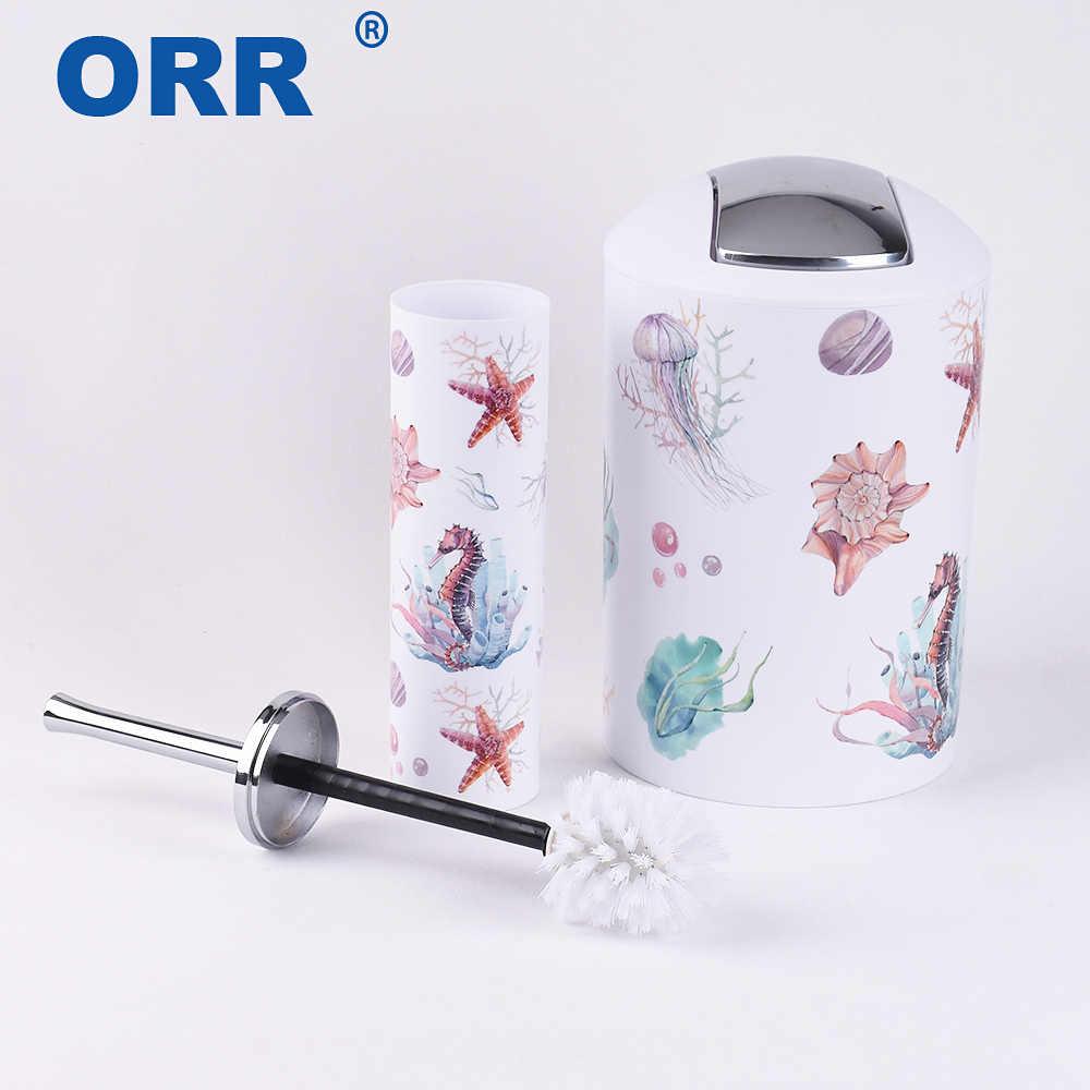 Akcesoria zestaw łazienkowy 6 sztuk szczotka do wc mydelniczka kosz na śmieci do mycia kubek kubek na szczoteczki do zębów dozownik mydła w płynie