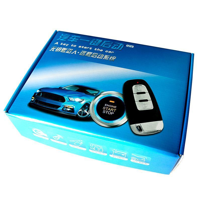 Clé intelligente PKE alarme de voiture démarrage du moteur arrêt bouton poussoir capteur de choc système Intelligent de démarrage à un bouton accessoires Auto - 2