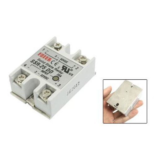WSFS Hot SSR-25DD Single Phase Solid State Module Relay 25A DC 5-60V normally open single phase solid state relay ssr mgr 1 d48120 120a control dc ac 24 480v