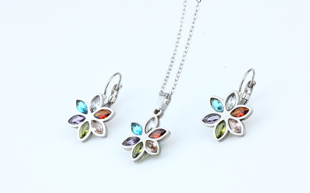 Fashion Stainless Steel Wedding Jewelry Set for Women