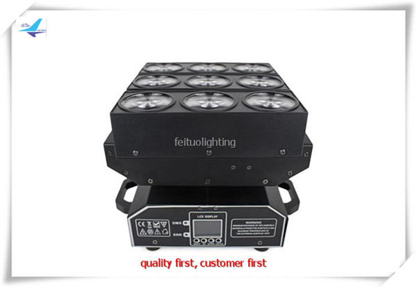 2xlot New Extend Dmx Led Moving Head Beam 9x15W 4in1 RGBW CREE Lamp Rotating Stage Disco Light For Dj Wedding Party Event Show