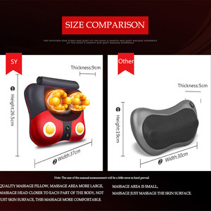 Image 5 - Electric Heating Massager Relief Neck Waist Shoulder Pain Mother Father Gift Body Massage Butterfly Pillow Home 328 Sale