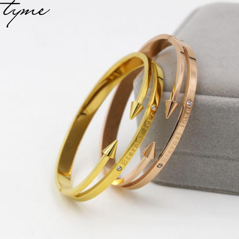 New Arrival Conical Arrows Imitation Crystal Bracelets & Bangles Gold-color