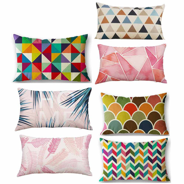 New Rectangle Cushion Cover Silk Throw Pillow Case Decorative Interesting Decorating Pillow Cases